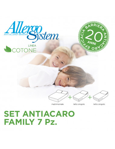 Set Antiacaro Family - 100% Cotone (7Pz)