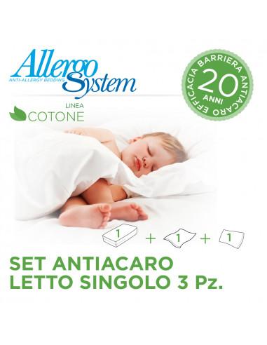 Single Bed Set (3 Pcs) - 100% Cotone
