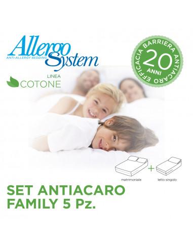 Set Antiacaro Family - 100% Cotone (5Pz)