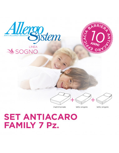 Set Antiacaro Family - Sogno (7Pz)